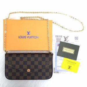 Louis Vuitton  Felice Clutch  3 Piece Brand New